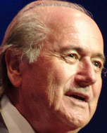 Photo of FIFA president Sepp Blatter