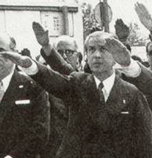 Photo of Juan Samaranch giving the NAZI salute