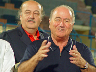 Photo of Sepp Blatter with Peter Hargitay