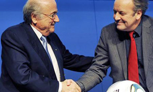 Photo of Sepp Blatter with Professor Mark Pieth