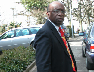 Photo of Jack Warner outside FIFA in Zurich